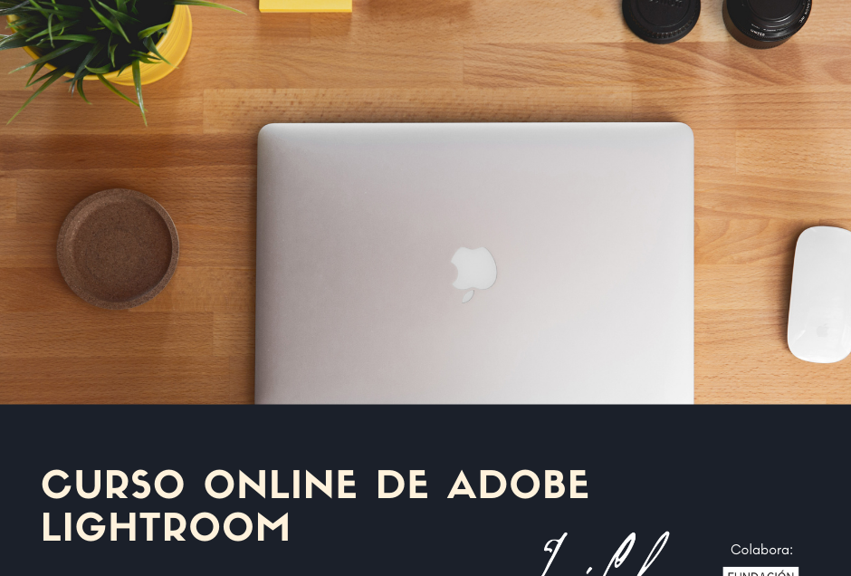 Cartel curso online Lightroom